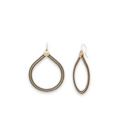 V18E02RS: ALEX AND ANI - Wide Rope Drop Earrings - Rafaelian Silver