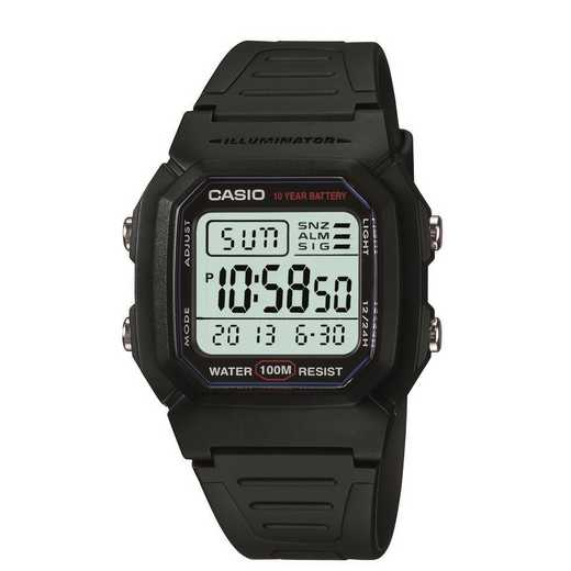 W-96H-3AVCF: Casio Watches - Men's Classic Sport Digital Watch - Black