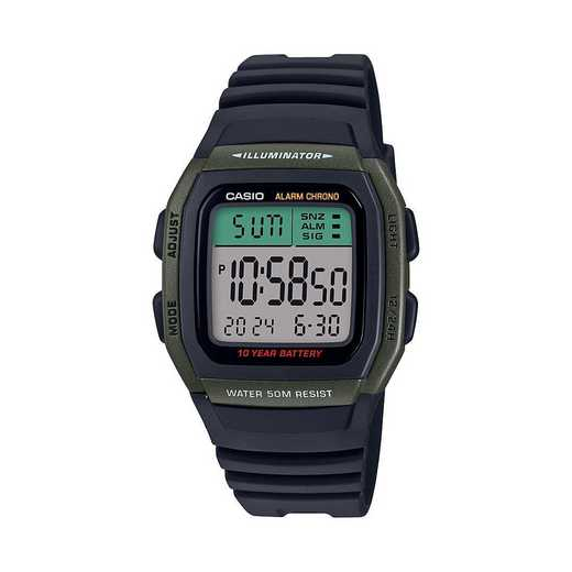 WS-1200H-1AVCF: Casio Watches - Men's Fishing Timer Watch  - Black