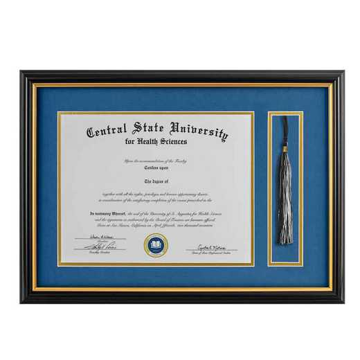 Heritage Frames 8.5x11 Standard Black & Gold Diploma Frame with Tassel Display