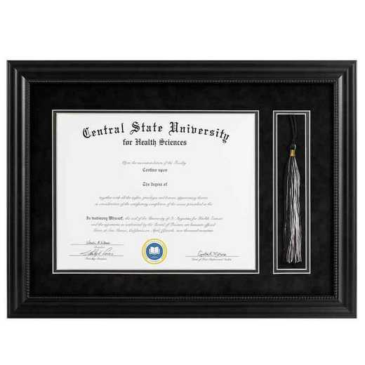 Heritage Frames 11x14 Premium Black Wood Diploma Frame with Tassel Display