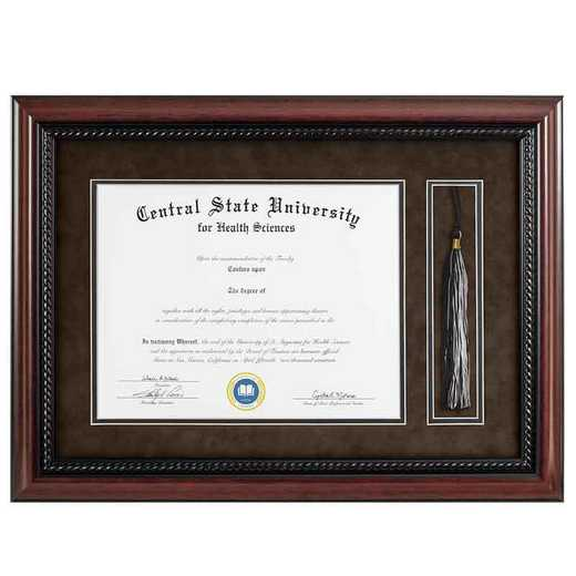 Heritage Frames 11x14 Premium Cherry Wood Diploma Frame with Rope Border and Tassel Display
