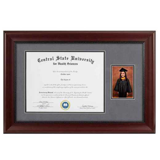 Heritage Frames 11x14 Premium Cherry Wood Diploma Frame with 4x6 Photo Display