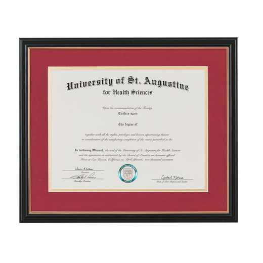 Heritage Frames Standard Black & Gold Wood Diploma Frame