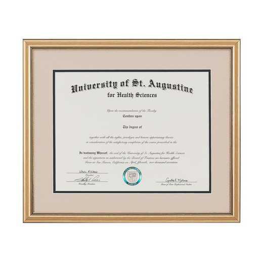 Heritage Frames Standard Gold Wood Diploma Frame