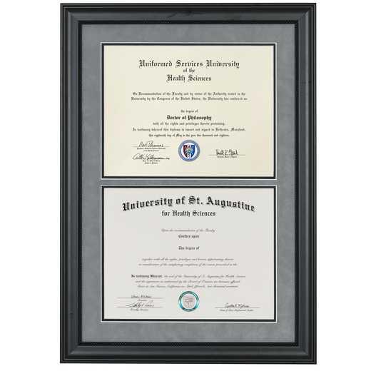 Heritage Frames Premium Black Wood Double Diploma Frame