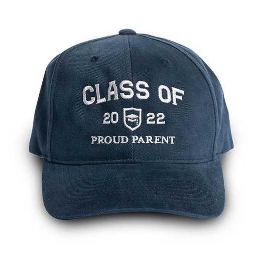 K022764: Proud Parent Class of 2022 Baseball Hat, Navy
