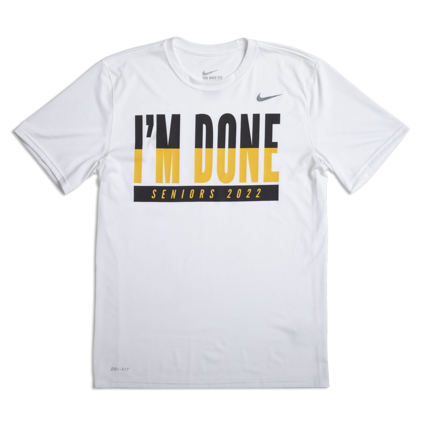 Nike Men's I'm Done 2022 T-Shirt, With with Yellow