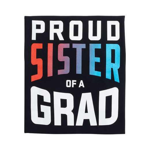 Proud Sister of a Grad 2022 T-Shirt, Black