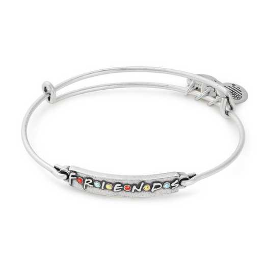 AS19EBFRD02RS:  Logo Bar Bangle - Rafaelian Silver Finish