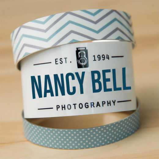 Personalized Photo Cuff Bracelet - Small
