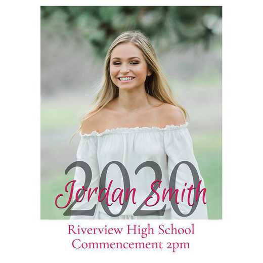 Senior Year Pure Portrait 5 x 7 Graduation Photo Card