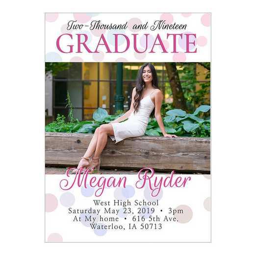 Congrats Confetti 5 x 7 Graduation Photo Card