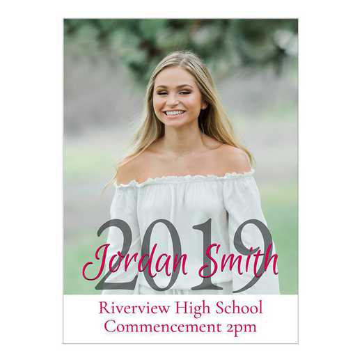 Senior Year Pure Portrait 5 x 7 Graduation Photo Card