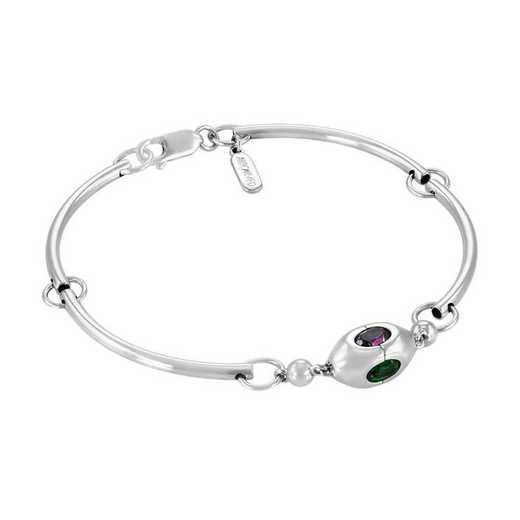 Women's Oval Style Personalized Tube Bracelet by Kleo