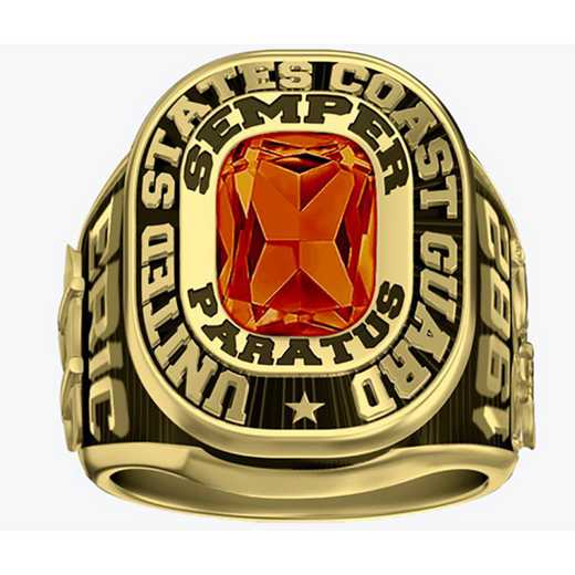 Men's Coast Guard Service Dual Rail Ring
