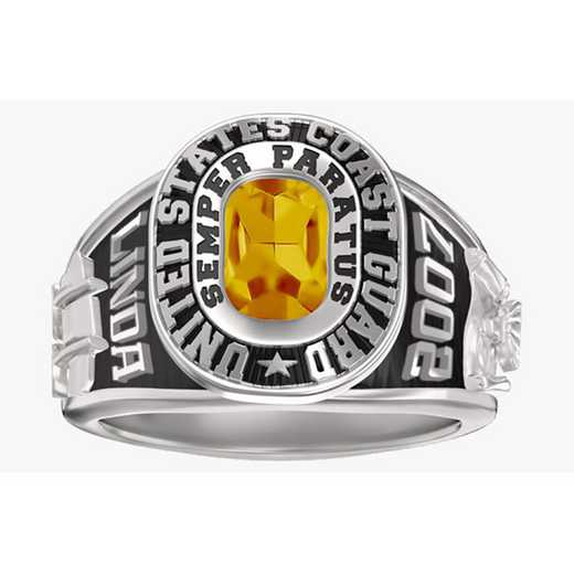 Women's Coast Guard Dual Rail Service Ring
