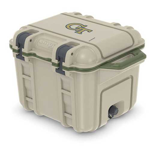 COO-25Q-RL-VEN-GT-D101: BL OB VENTURE 25 QT COOLER Georgia Tech Yellow Jackets