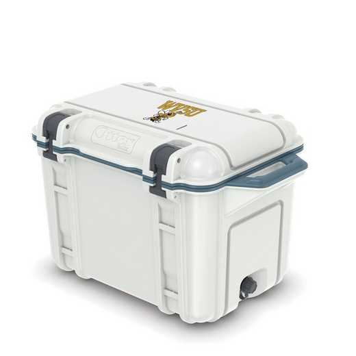 COO-45Q-HUD-VEN-WVSU-D101: BL OB VENTURE 45 QT COOLER West Virginia State Univ Yellow Jackets