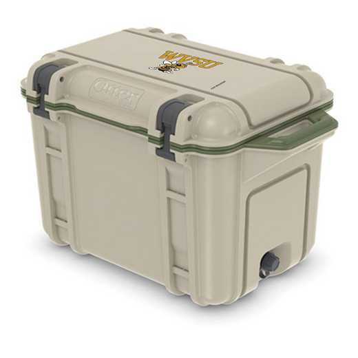 COO-45Q-RL-VEN-WVSU-D101: BL OB VENTURE 45 QT COOLER, West Virginia State Univ Yellow Jackets