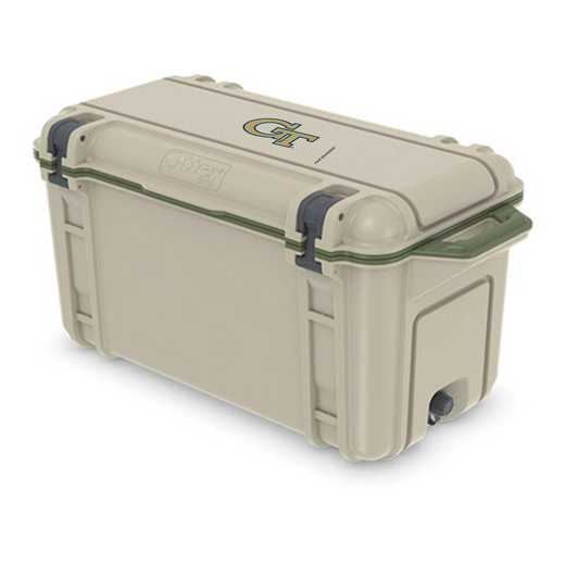 COO-65Q-RL-VEN-GT-D101: BL OB VENTURE 65 QT COOLER Georgia Tech Yellow Jackets