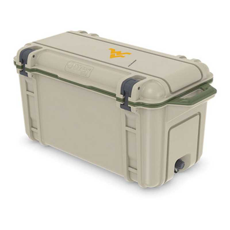 COO-65Q-RL-VEN-WV-D101: BL OB VENTURE 65 QT COOLER West Virginia Mountaineers