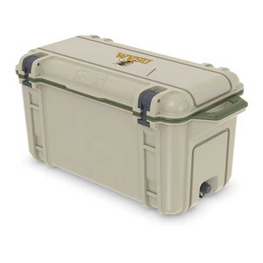 COO-65Q-RL-VEN-WVSU-D101: BL OB VENTURE 65 QT COOLER West Virginia St Yellow Jackets