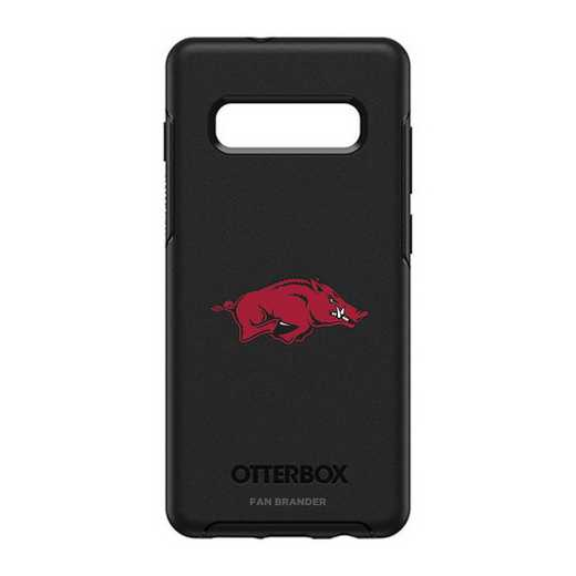 GAL-10P-BK-SYM-ARK-D101: BL Arkansas Razorbacks OtterBox Galaxy S10+ Symmetry