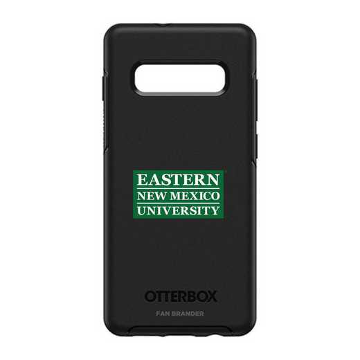 GAL-10P-BK-SYM-ENMU-D101: BL Eastern New Mexico OtterBox Galaxy S10+ Symmetry