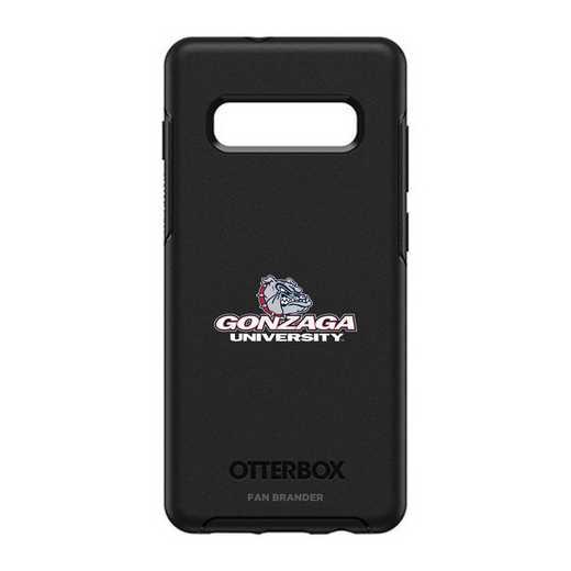 GAL-10P-BK-SYM-GON-D101: BL Gonzaga Bulldogs OtterBox Galaxy S10+ Symmetry