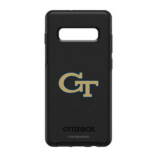 GAL-10P-BK-SYM-GT-D101: BL Georgia Tech Yellow Jackets OtterBox Galaxy S10+ Symmetry