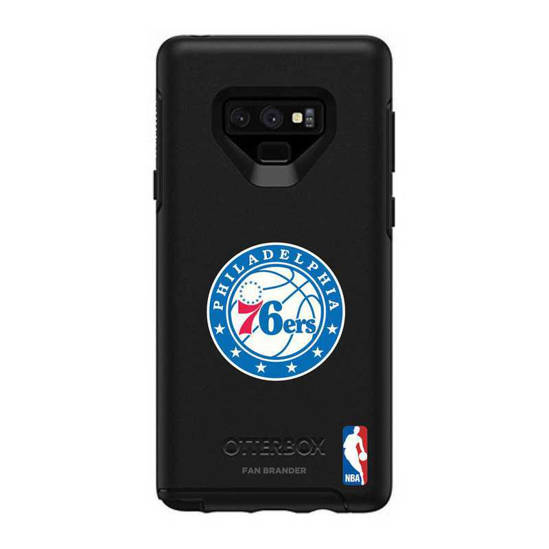 GAL-N9-BK-SYM-76S-D101: BL Philadelphia 76ers OtterBox Galaxy Note9 Symmetry