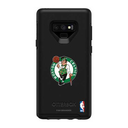 GAL-N9-BK-SYM-BOS-D101: BL Boston Celtics OtterBox Galaxy Note9 Symmetry