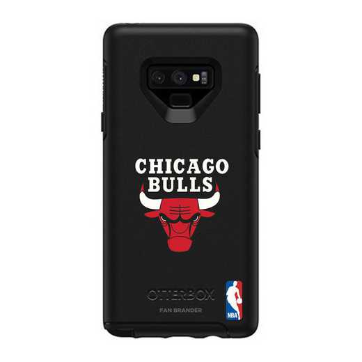 GAL-N9-BK-SYM-CHBL-D101: BL Chicago Bulls OtterBox Galaxy Note9 Symmetry
