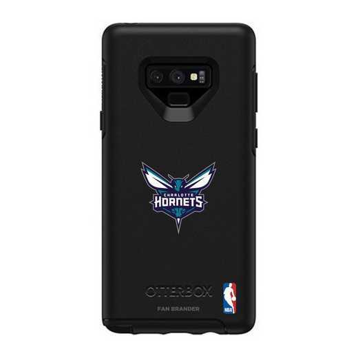 GAL-N9-BK-SYM-CHH-D101: BL Charlotte Hornets OtterBox Galaxy Note9 Symmetry