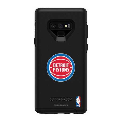 GAL-N9-BK-SYM-DEP-D101: BL Detroit Pistons OtterBox Galaxy Note9 Symmetry