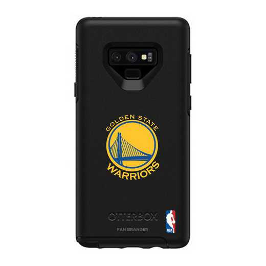 GAL-N9-BK-SYM-GST-D101: BL Golden State Warriors OtterBox Galaxy Note9 Symmetry