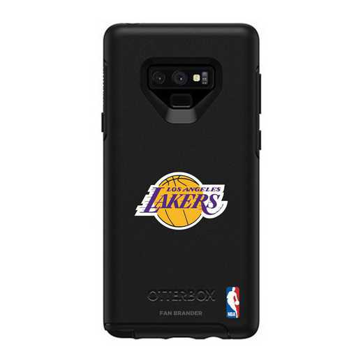 GAL-N9-BK-SYM-LAL-D101: BL LA Lakers OtterBox Galaxy Note9 Symmetry