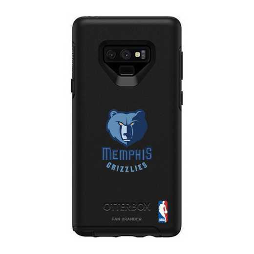 GAL-N9-BK-SYM-MG-D101: BL Memphis Grizzlies OtterBox Galaxy Note9 Symmetry