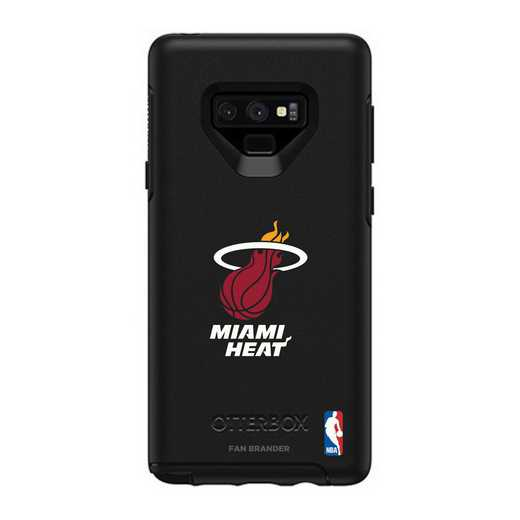 GAL-N9-BK-SYM-MHT-D101: BL Miami Heat OtterBox Galaxy Note9 Symmetry