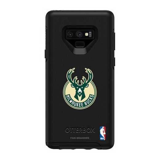 GAL-N9-BK-SYM-MIB-D101: BL Milwaukee Bucks OtterBox Galaxy Note9 Symmetry
