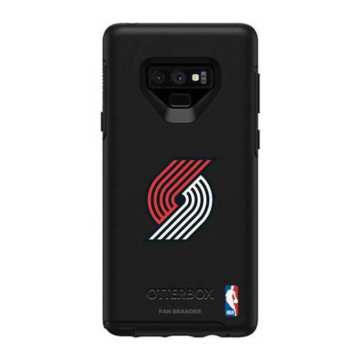 GAL-N9-BK-SYM-POT-D101: BL Portland Trailblazers OtterBox Galaxy Note9 Symmetry