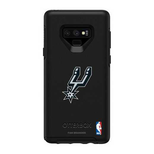 GAL-N9-BK-SYM-SAS-D101: BL San Antonio Spurs OtterBox Galaxy Note9 Symmetry