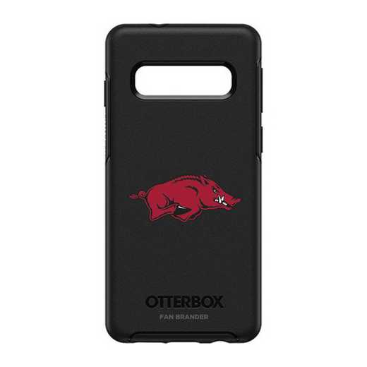 GAL-S10-BK-SYM-ARK-D101: BL Arkansas Razorbacks OtterBox Galaxy S10 Symmetry