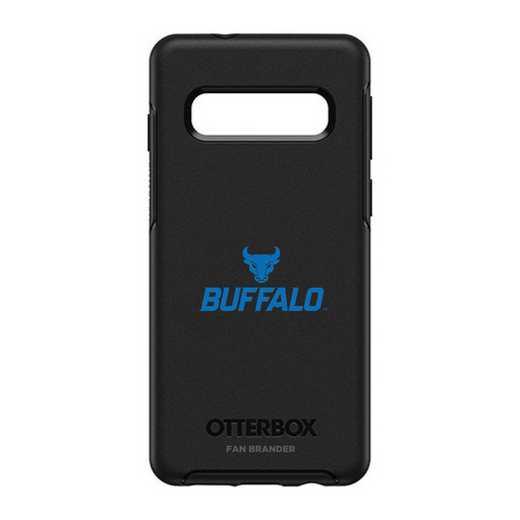 GAL-S10-BK-SYM-BUFB-D101: BL Buffalo Bulls OtterBox Galaxy S10 Symmetry