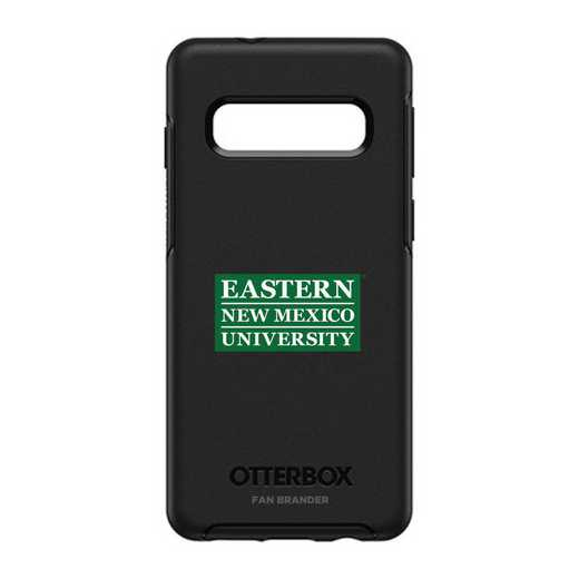 GAL-S10-BK-SYM-ENMU-D101: BL Eastern New Mexico OtterBox Galaxy S10 Symmetry