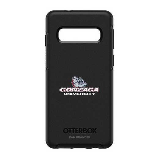 GAL-S10-BK-SYM-GON-D101: BL Gonzaga Bulldogs OtterBox Galaxy S10 Symmetry