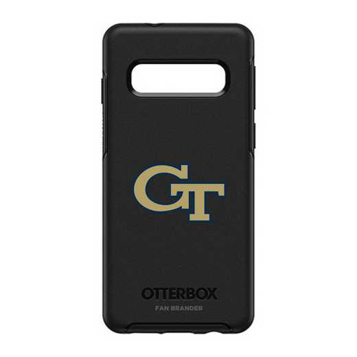GAL-S10-BK-SYM-GT-D101: BL Georgia Tech Yellow Jackets OtterBox Galaxy S10 Symmetry