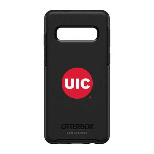 GAL-S10-BK-SYM-ILC-D101: BL Illinois @ Chicago Flames OtterBox Galaxy S10 Symmetry