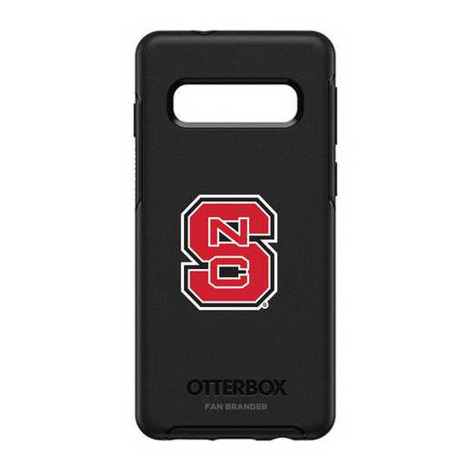 GAL-S10-BK-SYM-NCS-D101: BL NC State Wolfpack OtterBox Galaxy S10 Symmetry